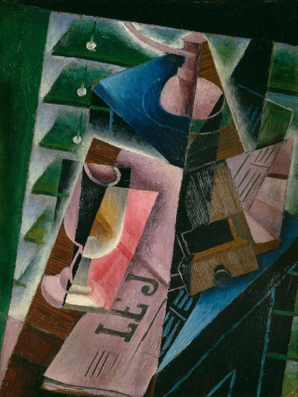 Juan Gris - Coffee Grinder and Glass, 1915