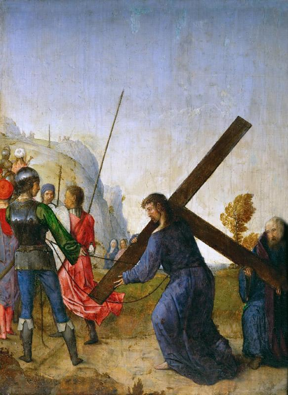 Juan de Flandes (c. 1465-1519) -- Christ Carrying the Cross