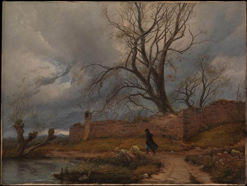 Julius von Leypold--Wanderer in the Storm
