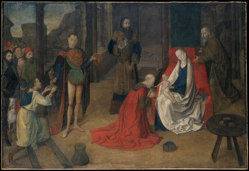 Justus of Ghent--The Adoration of the Magi