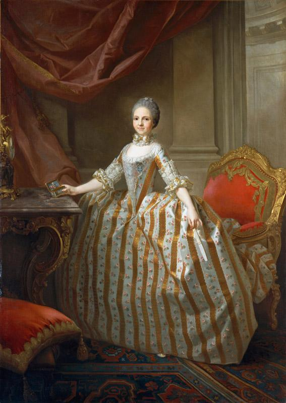 Laurent Pecheux--Maria Luisa of Parma (1751-1819), Later Queen of Spain