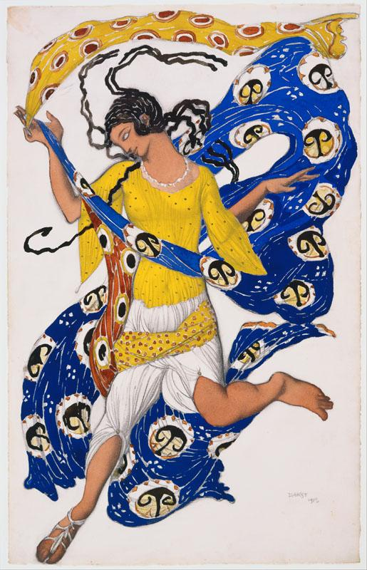 Leon Nikolaievitch Bakst - The Butterfly (Costume Design for Anna Pavlova)