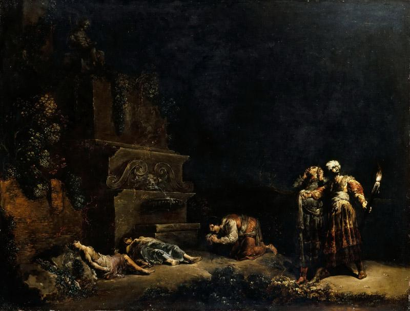 Leonard Bramer -- Discovery of the Bodies of Pyramus and Thisbe