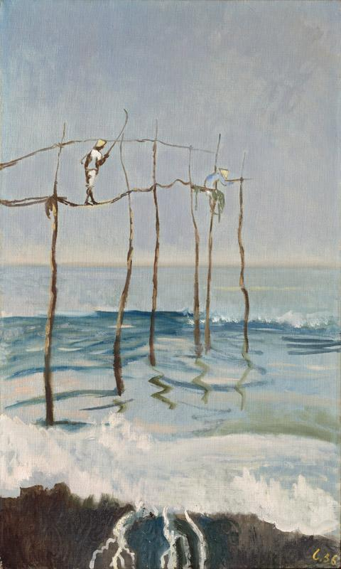 Leonid Berman - Angling at Tiba, 1956