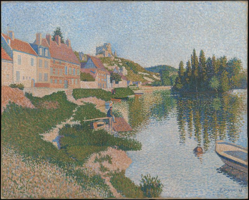 Les Andelys, by Paul Signac, from C2RMF