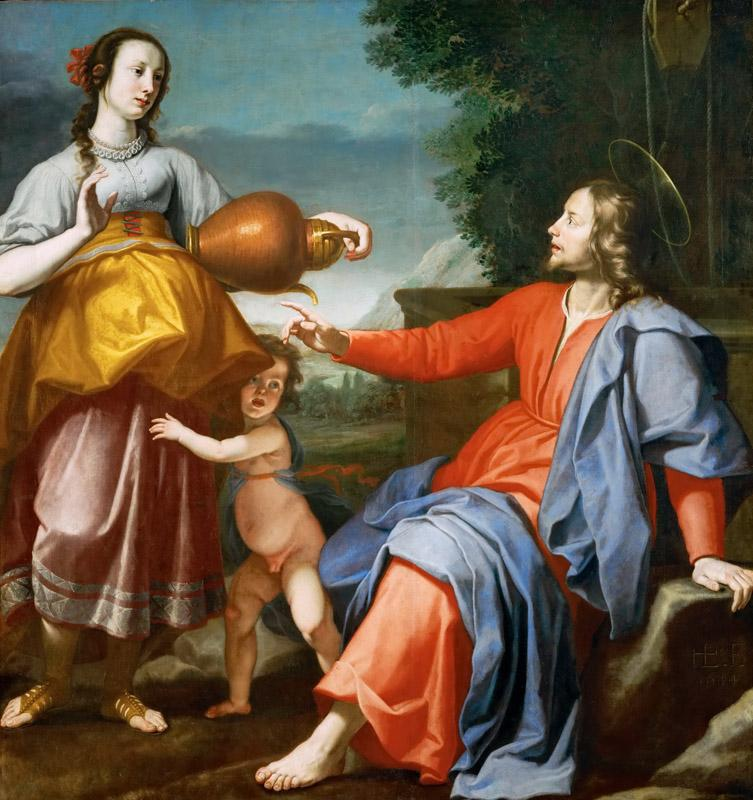 Lorenzo Lippi -- Christ and the Samaritan woman at the well