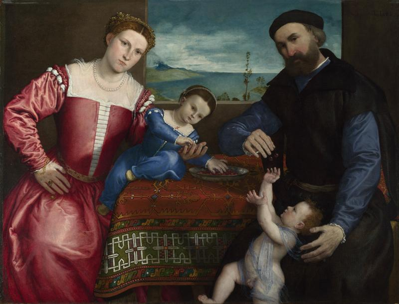 Lorenzo Lotto - Portrait of Giovanni della Volta with his Wife and Children