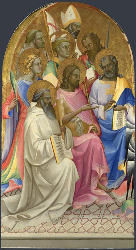 Lorenzo Monaco - Adoring Saints - Left Main Tier Panel