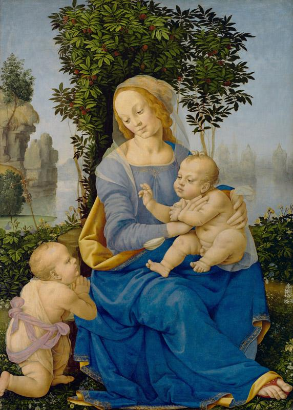 Lorenzo di Credi - Madonna and Child with the Infant Saint John the Baptist, ca. 1510