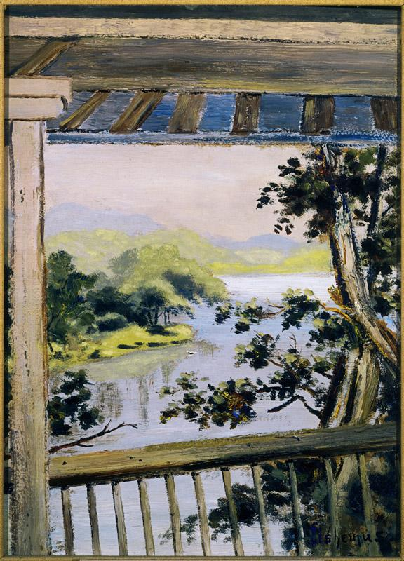 Louis Eilshemius (1864-1942)-Balcony, Delaware Water Gap