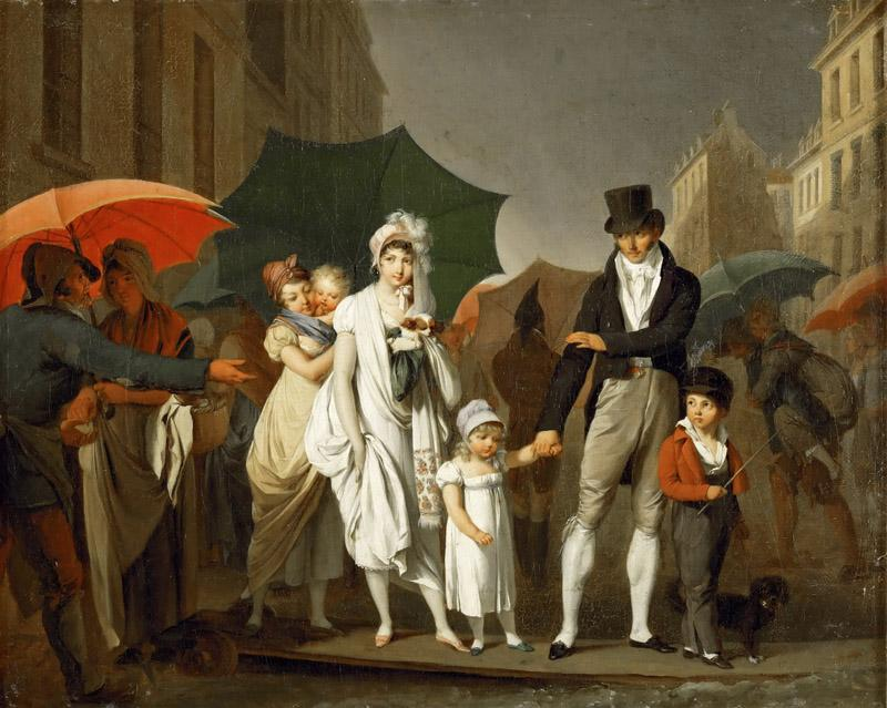 Louis Leopold Boilly (1761-1845) -- The Downpour