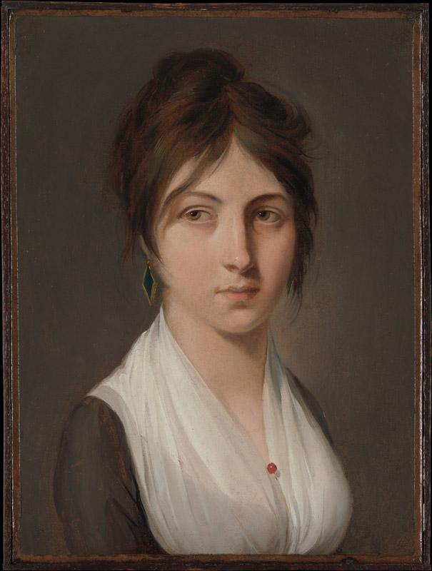 Louis Leopold Boilly--Portrait of a Young Woman