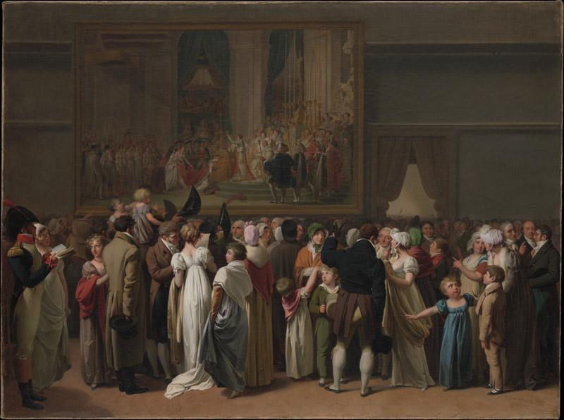 Louis Leopold Boilly--The Public Viewing David Coronation at the Louvre