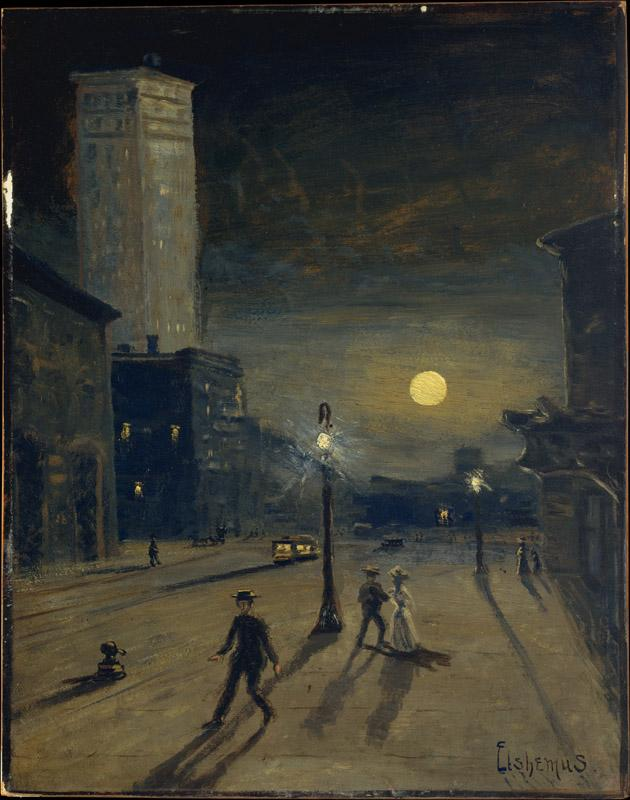 Louis Michel Eilshemius--New York at Night