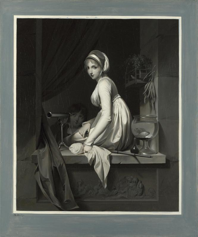 Louis-Leopold Boilly - A Girl at a Window