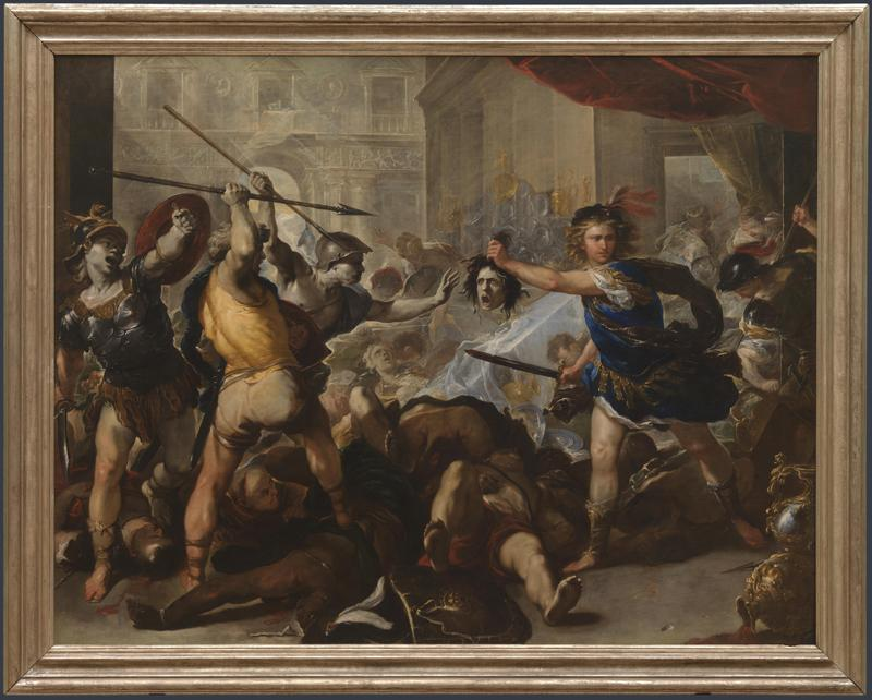 Luca Giordano - Perseus turning Phineas and his Followers to Stone
