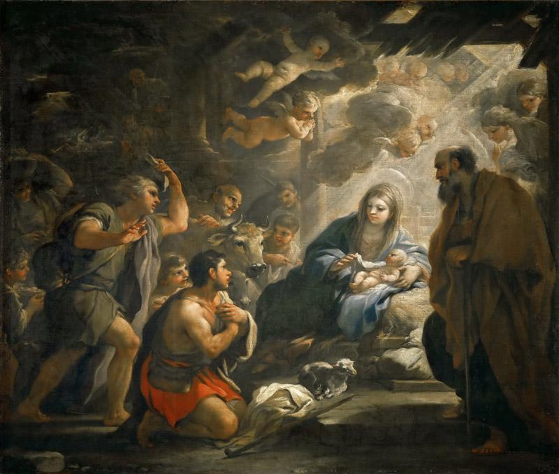 Luca Giordano -- Adoration of the Shepherds