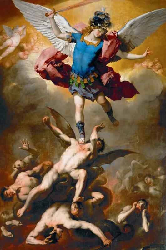 Luca Giordano -- Archangel Michael Hurls the Rebellious Angels