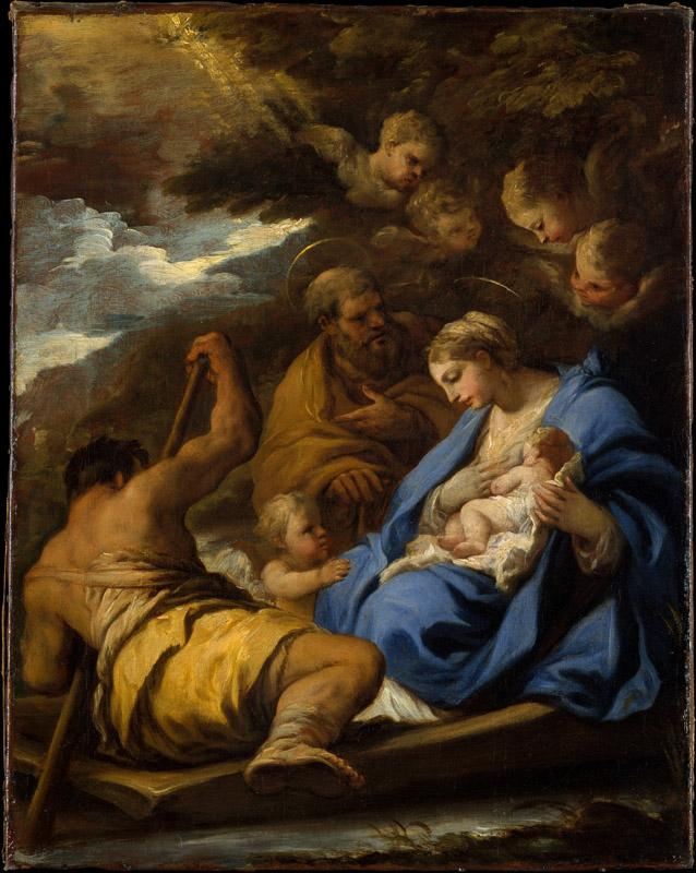 Luca Giordano--The Flight into Egypt