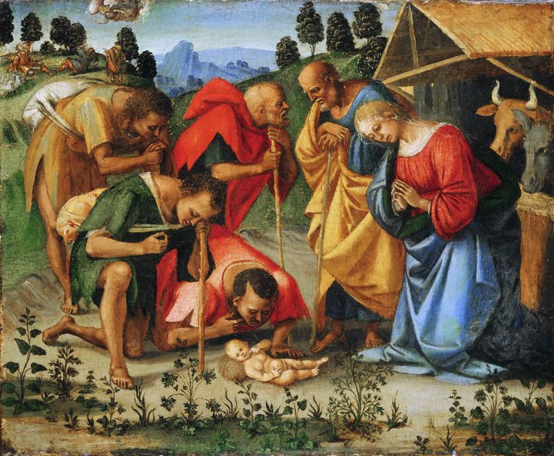 Luca Signorelli, Italian (active central Italy), first documented 1470, died 1523 -- The Adoration of the Shepherds