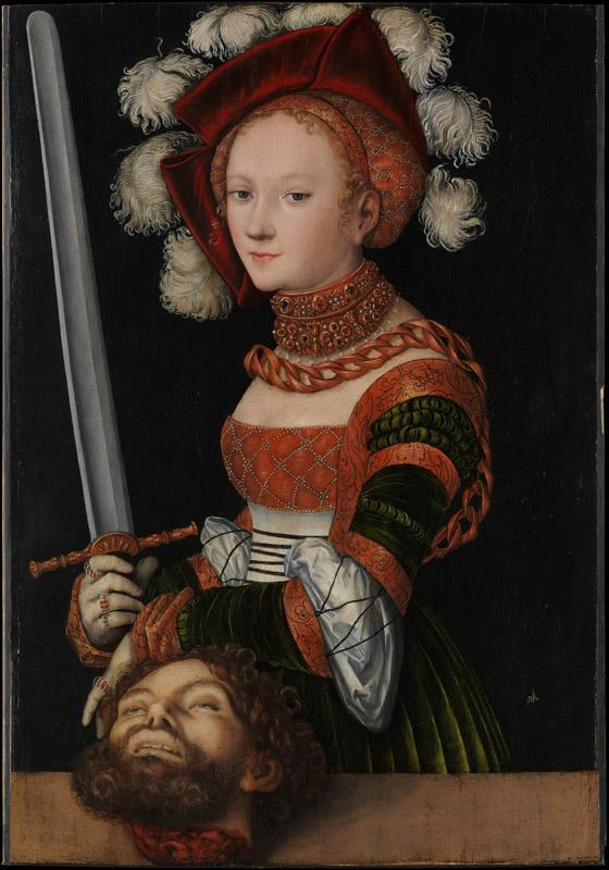 Lucas Cranach the Elder--Judith with the Head of Holofernes