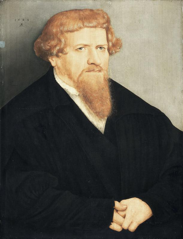Lucas Cranach the Younger - Portrait of a Man with a Red Beard