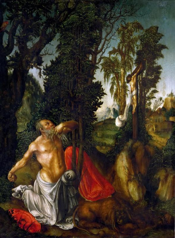 Lucas Cranach the elder -- Saint Jerome in Penance