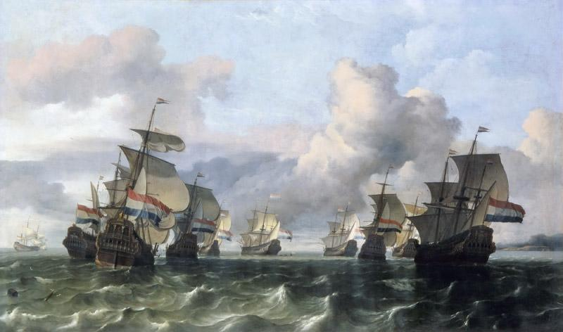 Ludolf Backhuysen I -- Ships of the Dutch East India Company (Escadre Neerlandaise de la