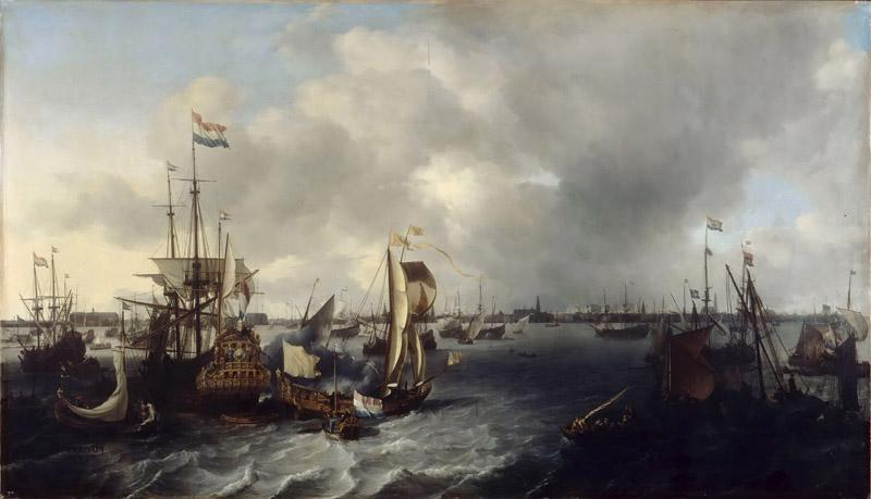 Ludolf Backhuysen I -- The Port of Amsterdam