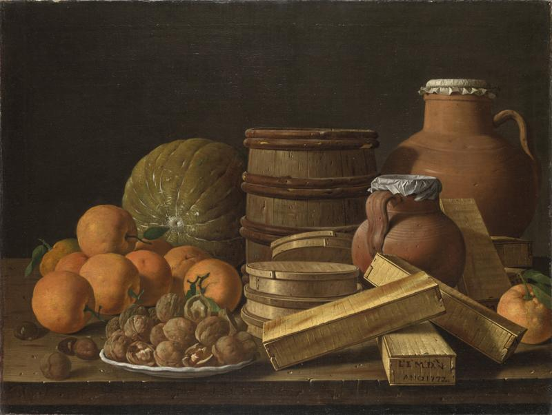 Luis Melendez - Still Life with Oranges and Walnuts