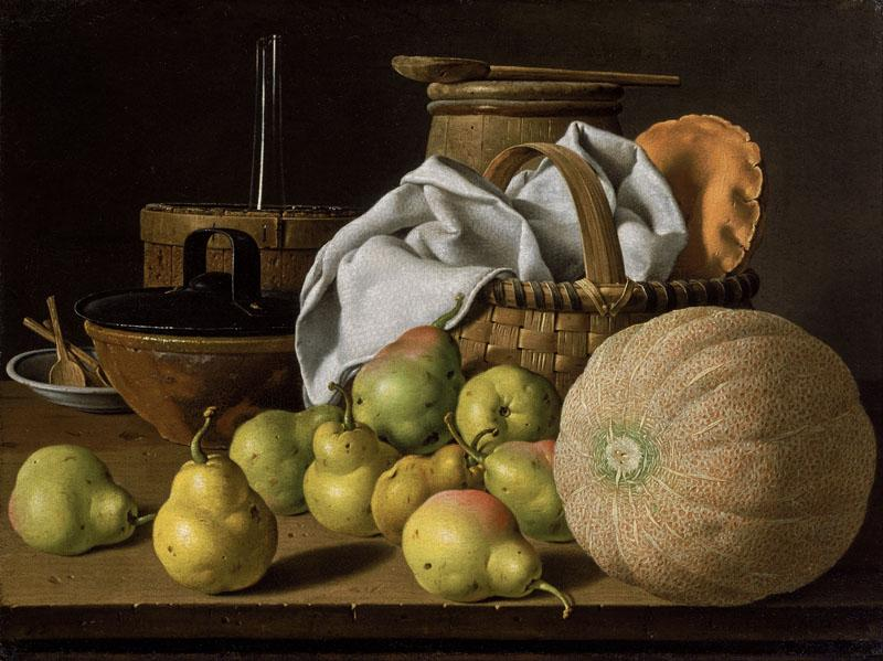 Luis Melendez - Still Life with Melon and Pears