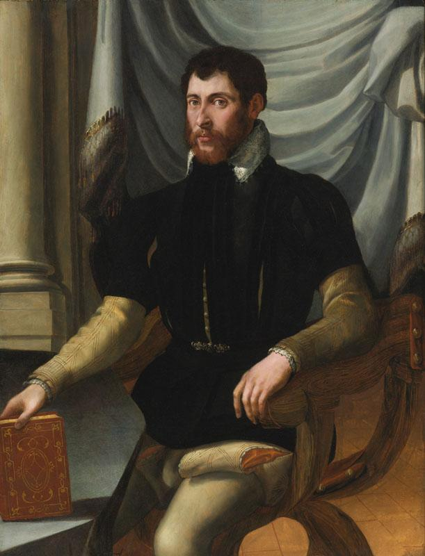 MIRABELLO CAVALORI-PORTRAIT OF A SEATED MAN