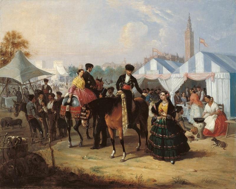 Manuel Cabral Aguado Bejarano At the Seville Fair