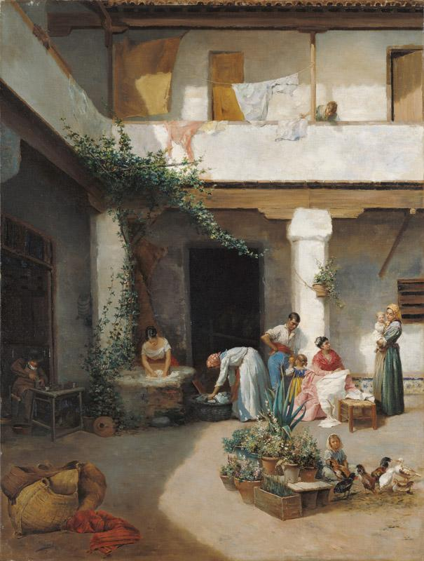 Manuel Wssel de Guimbarda Washing in the Courtyard