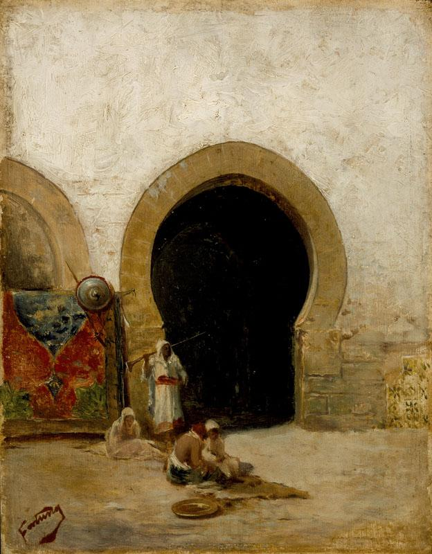 Mariano Jose Maria Bernardo Fortuny y Carbo - At the Gate of the Seraglio