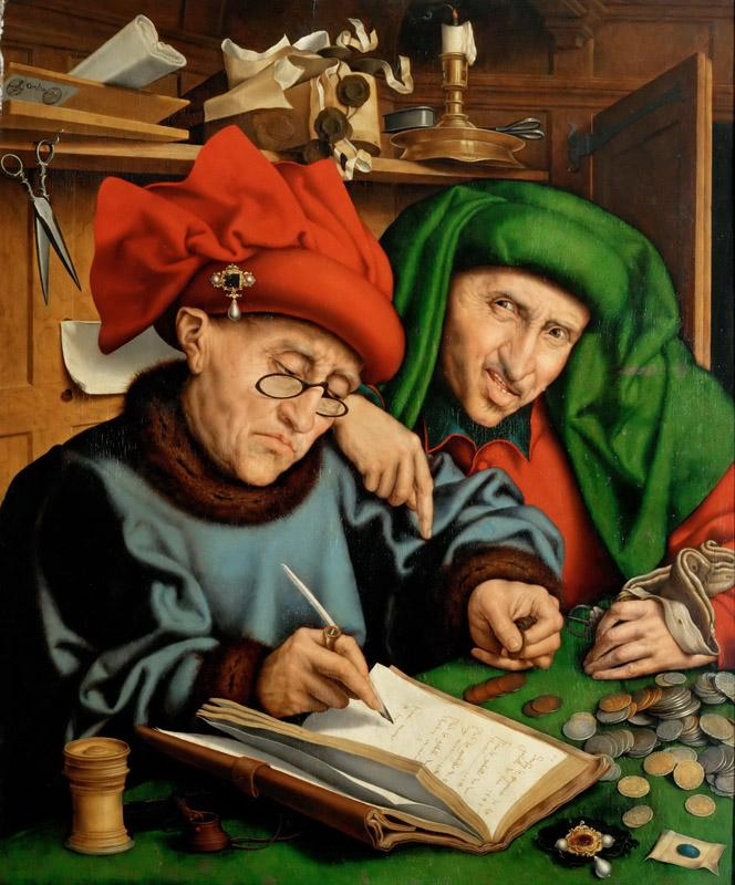 Marinus van Reymerswaele(1490-1567)-Two Tax Collectors