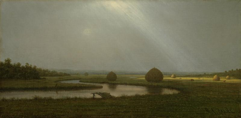 Martin Johnson Heade - After the Rain in the Salt Marshes, ca. 1874