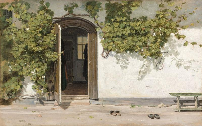 Martinus Rorbye - Entrance to an Inn in the Praestegarden at Hillested