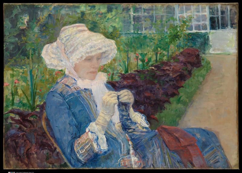 Mary Cassatt--Lydia Crocheting in the Garden at Marly