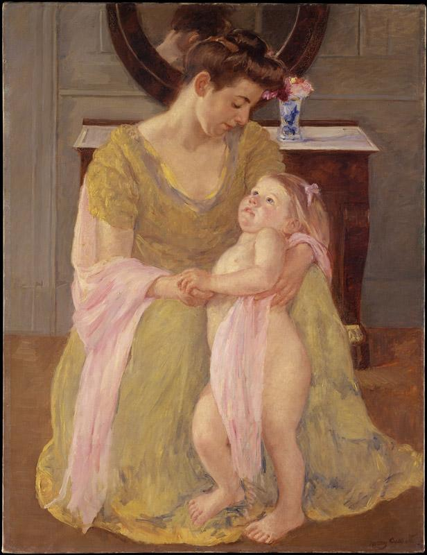 Mary Cassatt--Mother and Child with a Rose Scarf