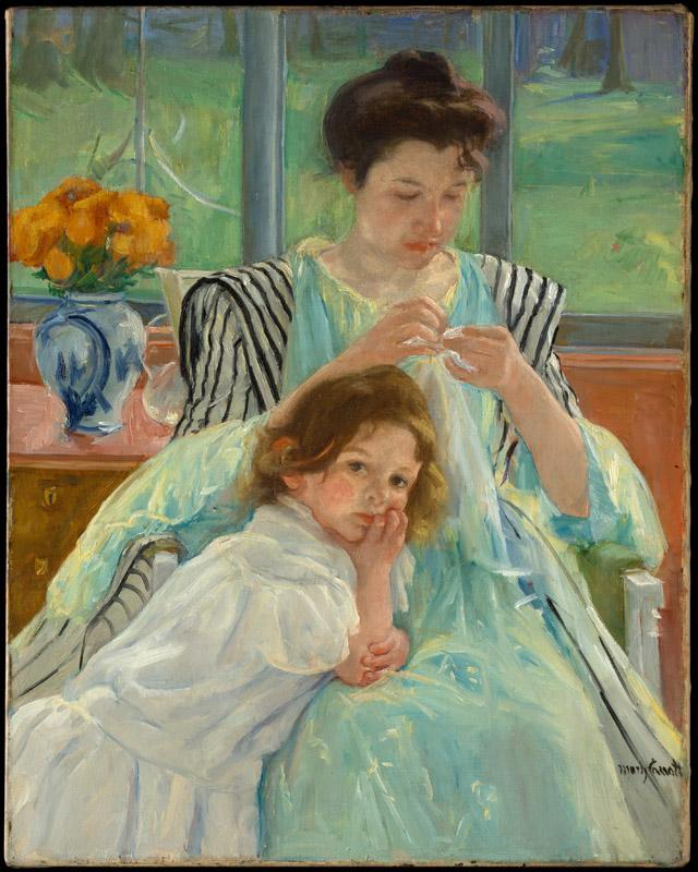 Mary Cassatt--Young Mother Sewing