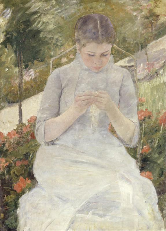 Mary Cassatt - Girl in the Garden
