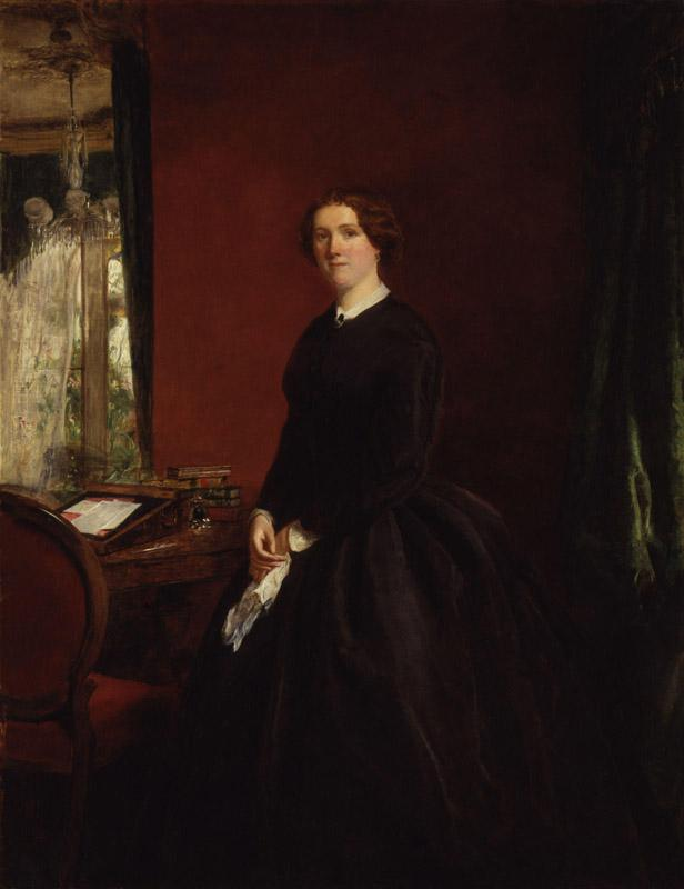 Mary Elizabeth Maxwell (nee Braddon) by William Powell Frith