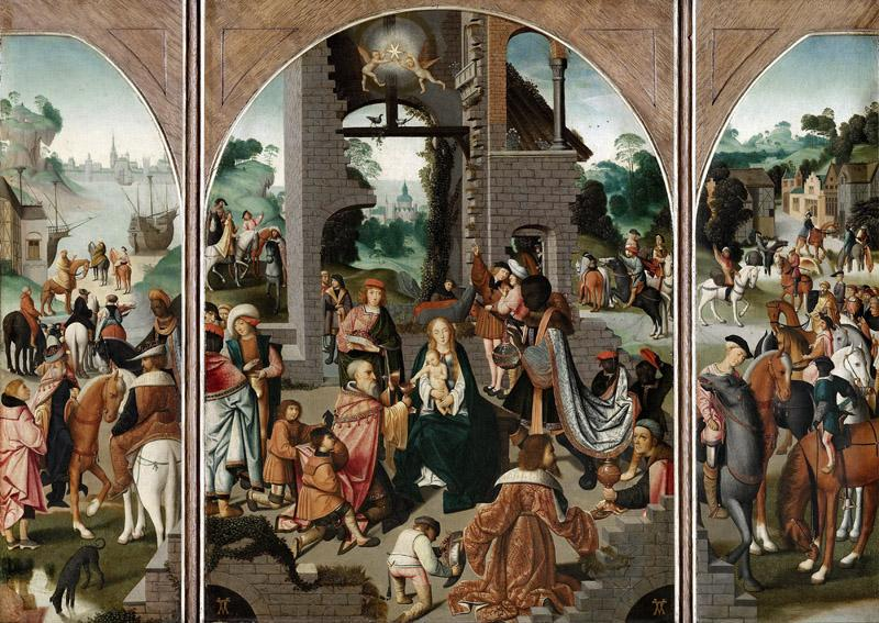 Master of Alkmaar - Triptych with the Adoration of the Magi