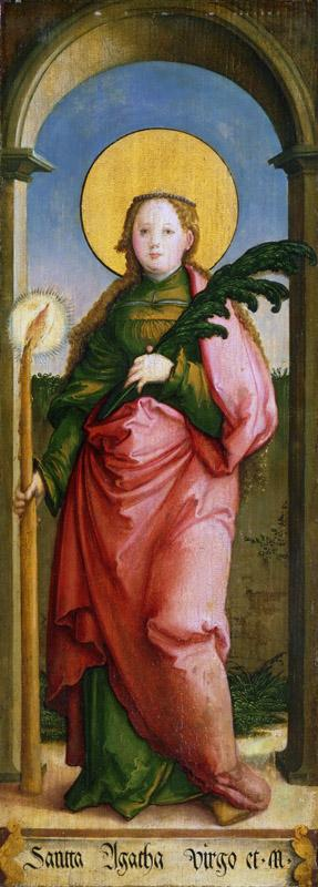 Master of Messkirch, German, active 1520-1540 -- Saint Agatha