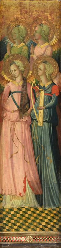 Master of the Bargello Tondo - Four Angels (right panel), 1435-1439