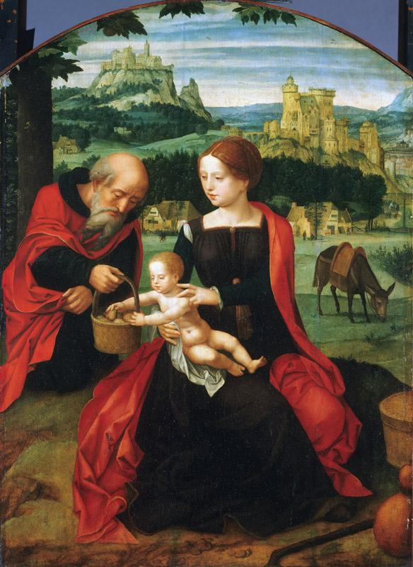 Master of the Female Half-Lengths, Netherlandish (active Antwerp), active c. 1520-c. 1540 -- Rest on the Flight into Egypt