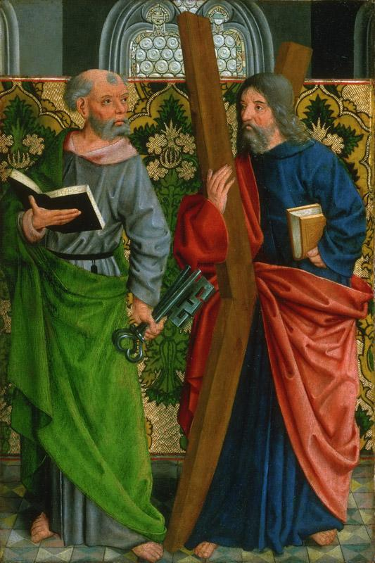 Master of the Holy Kinship, German (active Cologne), c. 1450-c. 1515 -- Saints Peter and Andrew