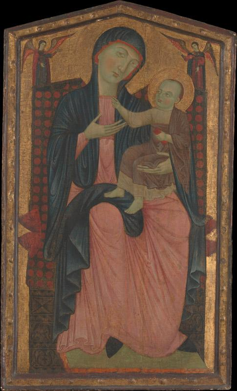 Master of the Magdalen--Madonna and Child Enthroned II