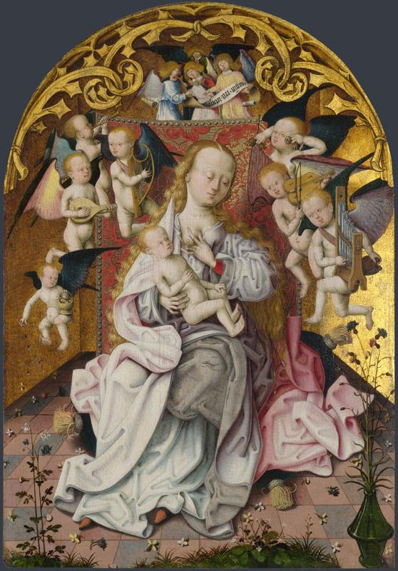 Master of the Saint Bartholomew Altarpiece - The Virgin and Child with Musical Angels